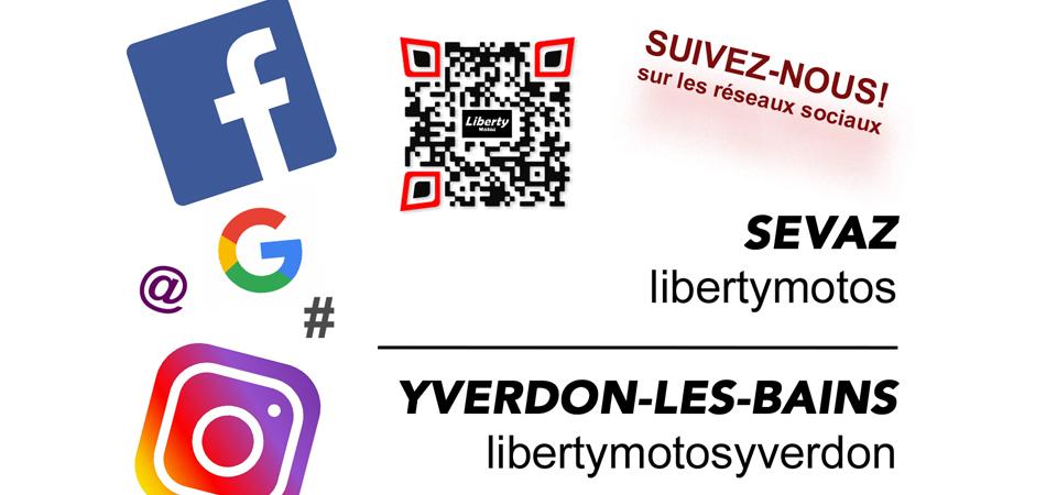 Liberty Motos - réseaux sociaux